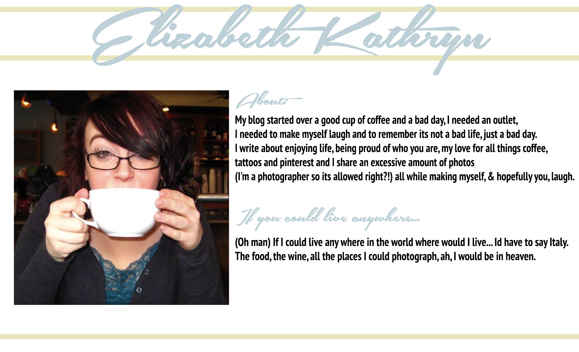 Follow Elizabeth Kathryn: Her Blog ♥ Twitter ♥ Pinterest