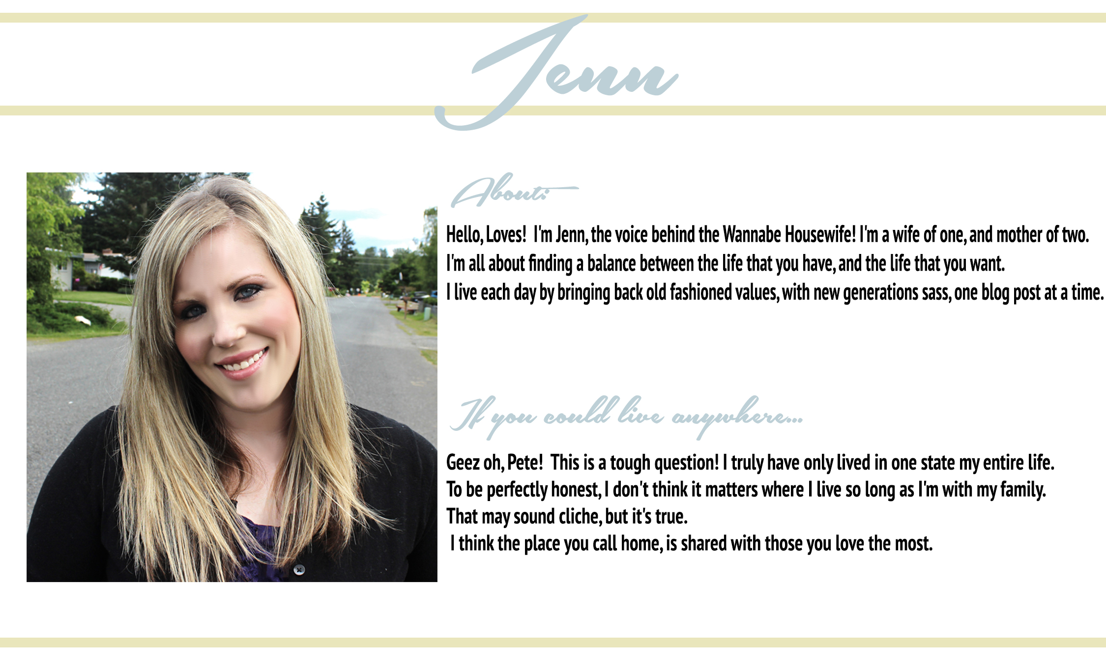 Check Jenn Out: Her Blog ♥ Bloglovin ♥ Twitter ♥ Facebook
