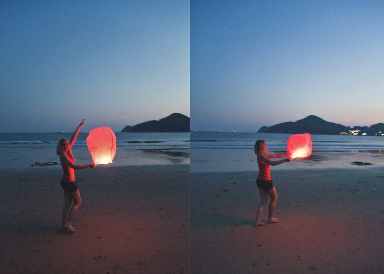 Chinese Sky Lanterns, Namhae, South Korea