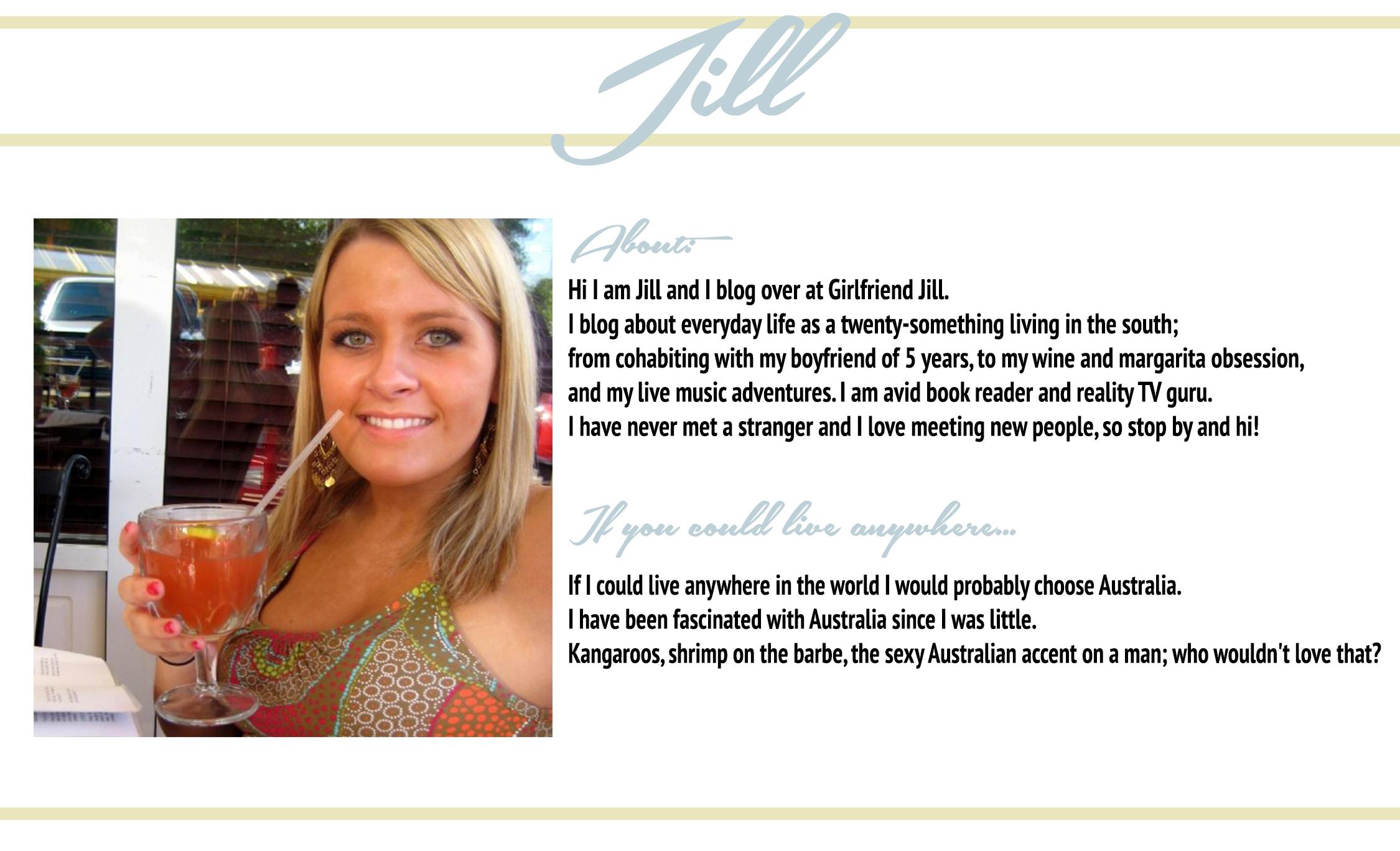 Check Jill Out: Her Blog ♥ Bloglovin ♥ Twitter♥ Instagram
