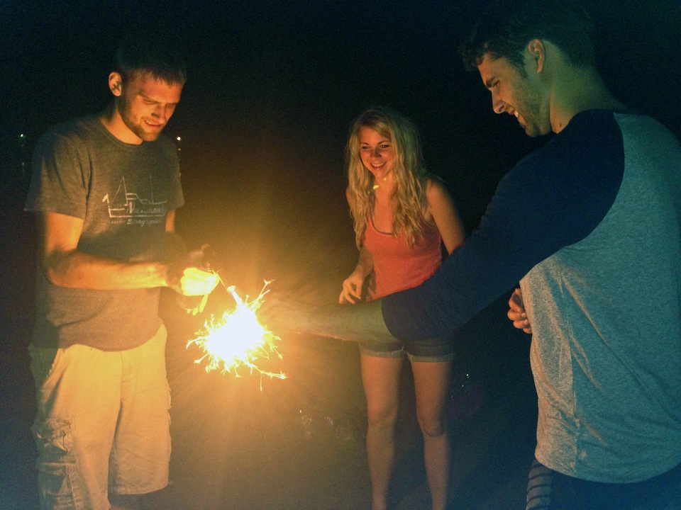 Sparklers in Namhae, South Korea