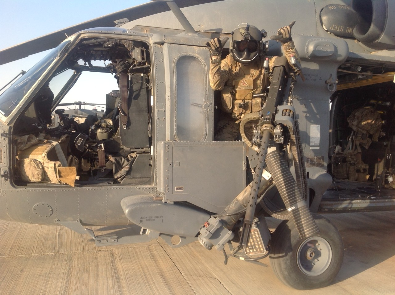 Pararescue-machine gunner