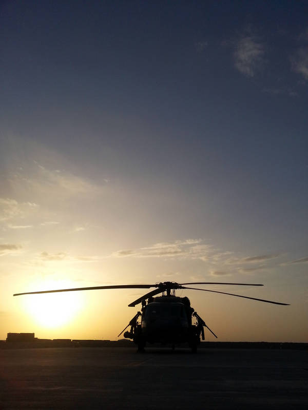 Helicopter of a pararescue unit