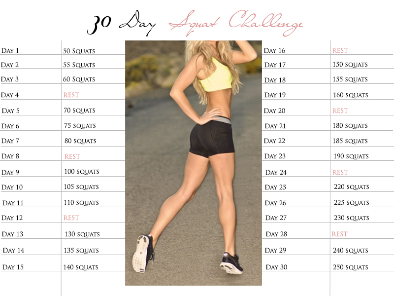 30 Day Squat Challenge-achieveable and totally awesome! Let's do this!