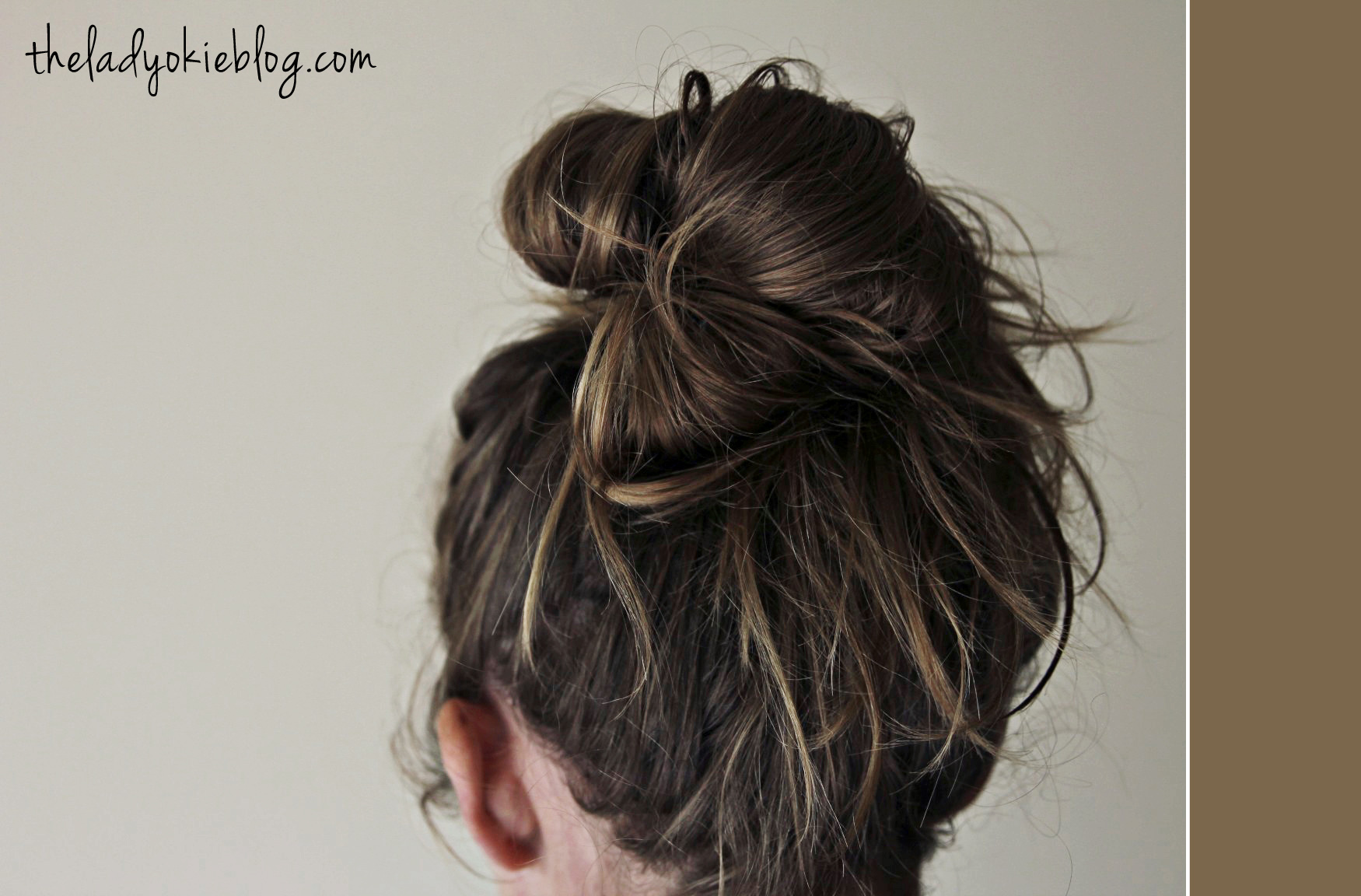 how to draw a messy bun from the back