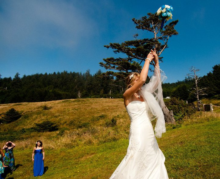 Wedding at Ecola State Park, Oregon