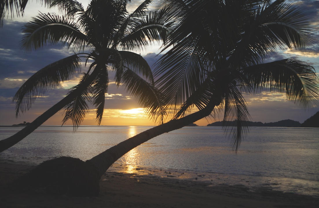 Sunset in Borneo, Malaysia