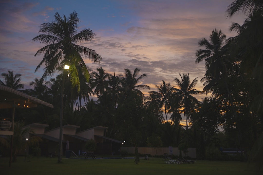 Sunset at Langkah Syabas Beach Resort