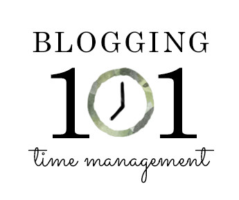 Blogging 101: Time Management