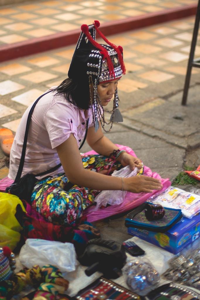 Natives at the Sunday Night Market, Chiang Mai, Thailand