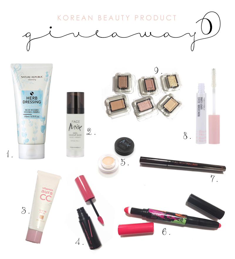 Korean Beauty Product Giveaway