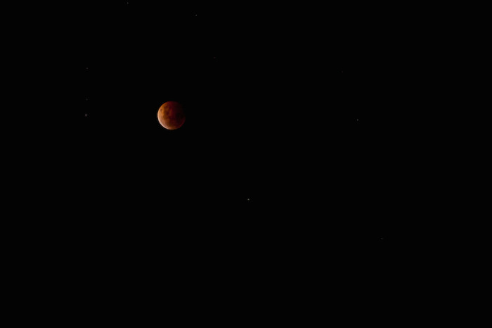 The lunar eclipse as seen in New Zealand