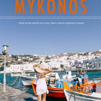 One day in Mykonos, Greece